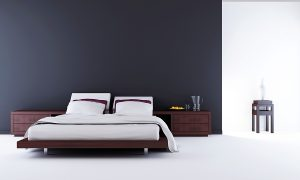 Modern room with fold up wall beds